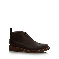 J by Jasper Conran - Brown 'Suki' stitch detail chukka boots