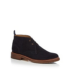 J by Jasper Conran - Navy suede Chukka boots