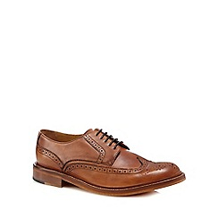 Hammond & Co. by Patrick Grant - Brown 'Balham' brogue detail Derby shoes