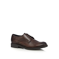 RJR.John Rocha - Dark brown leather Derby shoes