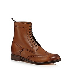 J by Jasper Conran - Designer tan high top brogues