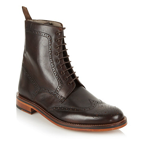 J by Jasper Conran - Designer brown brogue boots