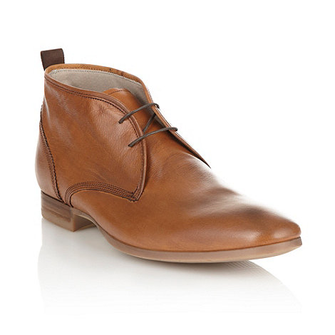 J by Jasper Conran - Designer tan stitched leather chukka boots