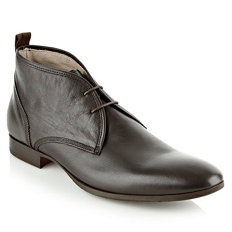 J by Jasper Conran - Designer black leather chukka boots