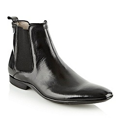 J by Jasper Conran - Designer black leather chelsea boots