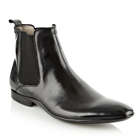 J by Jasper Conran - Designer black leather chelsea boots