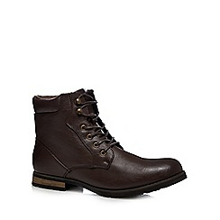 Red Herring - Dark brown lace up boots