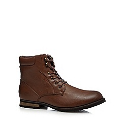 Red Herring - Tan lace up boots