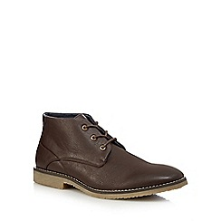 Red Herring - Chocolate brown 'Flare' chukka shoes