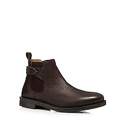 Red Herring - Chocolate brown leather chelsea boot