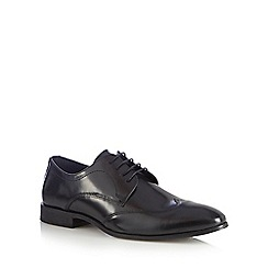 Red Herring - Black wingtip Derby shoes