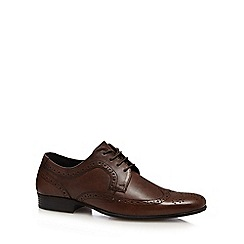 Red Herring - Brown space textured wingtip brogues
