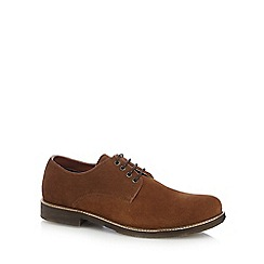 Red Herring - Tan suede Derby shoes