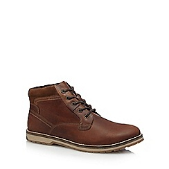 Mantaray - Dark brown leather boots