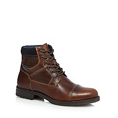 Red Herring - Tan leather lace up boots