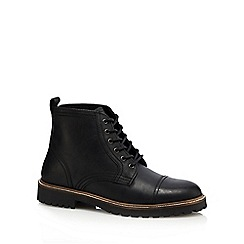 Red Herring - Black 'Neptune' leather boots