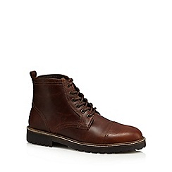 Red Herring - Brown 'Neptune' leather boots