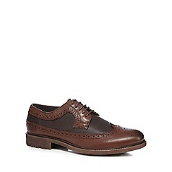 Red Herring - Dark brown pebbled brogues