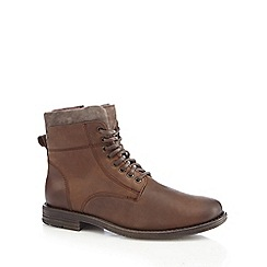 Mantaray - Chocolate brown military boots