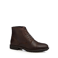 Mantaray - Tan leather ankle brogues