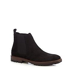Mantaray - Black suede 'Chelsea' boots