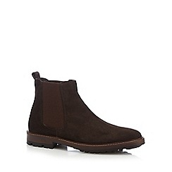 Mantaray - Brown 'Target' suede Chelsea boots