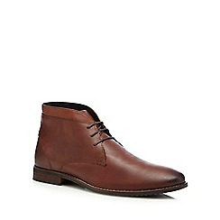 Red Herring - Brown 'Jupiter' stitched welt chukka boots