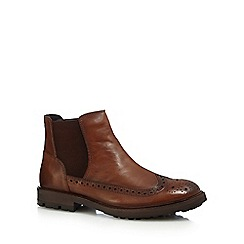 Red Herring - Tan perforated Chelsea boots