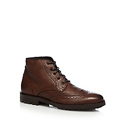 Red Herring - Brown leather brogue chukka boots
