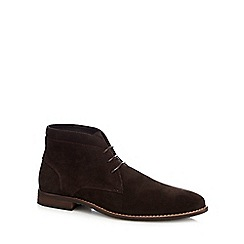Red Herring - Brown 'Jupiter' stitch detail chukka boots