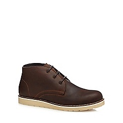 Red Herring - Brown stitch detail chukka boots