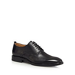 Jeff Banks - Black leather lace up Derby shoes