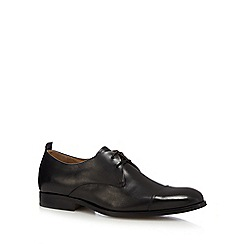 Jeff Banks - Black leather 'Potter' Derby shoes