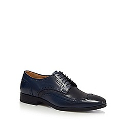 Jeff Banks - Navy leather lace up Derby shoes