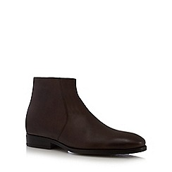 J by Jasper Conran - Dark brown leather ankle boots