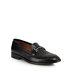 J by Jasper Conran - Black leather 'Mazda' loafers