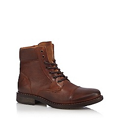 RJR.John Rocha - Tan leather lace up boots