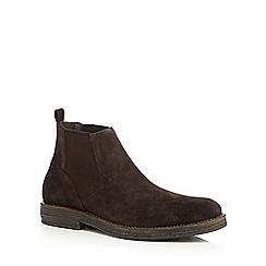 RJR.John Rocha - Dark brown suede Chelsea boots