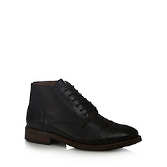 J by Jasper Conran - Black 'Volvo' brogue detail chukka boots