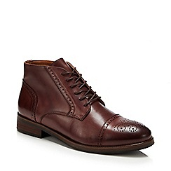 J by Jasper Conran - Brown brogue Chukka boots