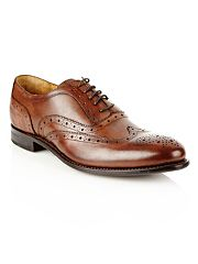 Designer brown leather brogues