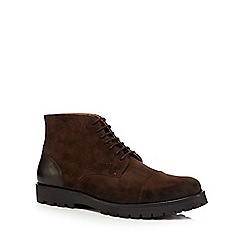Hammond & Co. by Patrick Grant - Brown grained leather lace-up boots