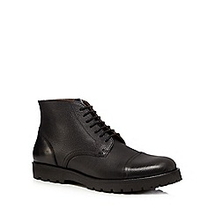 Hammond & Co. by Patrick Grant - Black grained leather lace-up boots