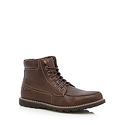 Red Herring - Brown 'Nova' apron boots