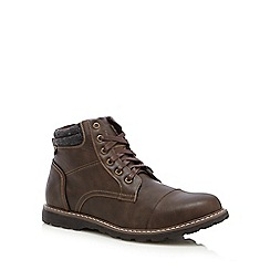 Red Herring - Brown 'Crater' toe cap boots