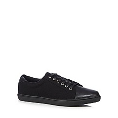 Red Herring - Black mixed material lace up shoes