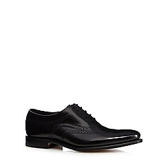 Loake - Big and tall wide fit black leather brogues