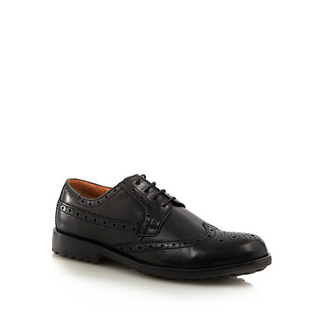 Clarks - Black leather brogues