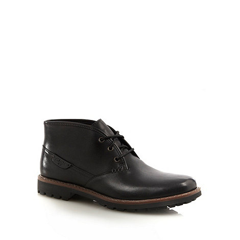 Clarks - Clarks black contrasting stitched ankle boots