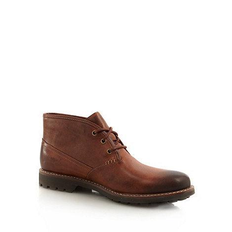 Clarks - Clarks tan contrasting stitched ankle boots